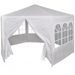 stradeXL Namiot ogrodowy z 6 panelami bocznymi, 2x2 m, biały