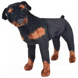 stradeXL Pluszowy rottweiler, stojący, czarno-brązowy, XXL