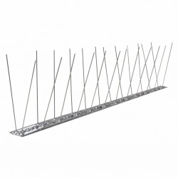 stradeXL 2-row Stainless Steel Bird & Pigeon Spikes Set of 6 3 m
