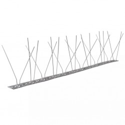 stradeXL 4-row Stainless Steel Bird & Pigeon Spikes Set of 6 3 m