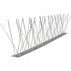 stradeXL 5-row Stainless Steel Bird & Pigeon Spikes Set of 6 3 m