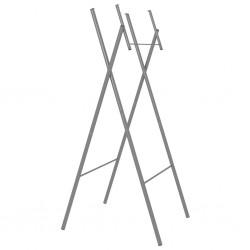 stradeXL Składane nogi do stołu, srebrne, 45x55x112 cm, stal