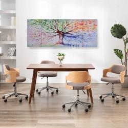 stradeXL Zestaw obrazów z deszczowym drzewem, kolorowy, 200x80 cm