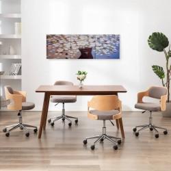 stradeXL Zestaw obrazów z kwiatami w wazonie, kolorowy, 120x40 cm
