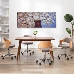 stradeXL Zestaw obrazów z kwiatami w wazonie, kolorowy, 200x80 cm