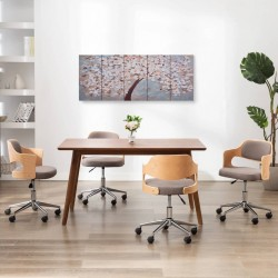 stradeXL Zestaw obrazów z kwitnącym drzewem, kolorowy, 150x60 cm