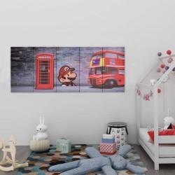 stradeXL Zestaw obrazów z londyńskim nadrukiem, kolorowy, 150x60 cm