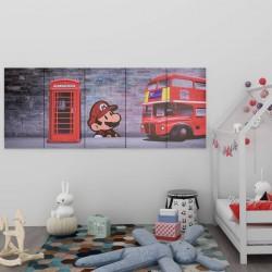 stradeXL Zestaw obrazów z londyńskim nadrukiem, kolorowy, 200x80 cm