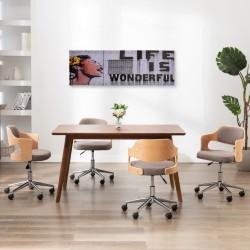 stradeXL Zestaw obrazów z napisem Life is Wonderful, kolorowy, 120x40 cm