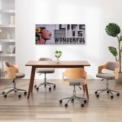 stradeXL Zestaw obrazów z napisem Life is Wonderful, kolorowy, 150x60 cm