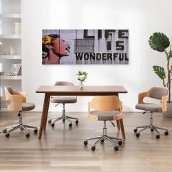 stradeXL Zestaw obrazów z napisem Life is Wonderful, kolorowy, 200x80 cm