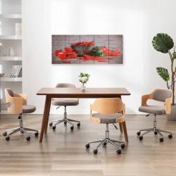 stradeXL Zestaw obrazów z nadrukiem papryk, kolorowy, 150x60 cm