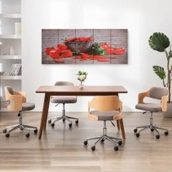 stradeXL Zestaw obrazów z nadrukiem papryk, kolorowy, 200x80 cm