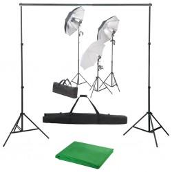 stradeXL Fotograficzny zestaw studyjny z lampami i tłem