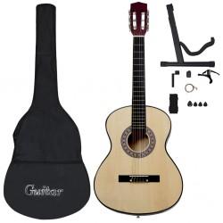 """stradeXL 12-częściowy zestaw do nauki gry na gitarze klasycznej 4/4 39"""""""
