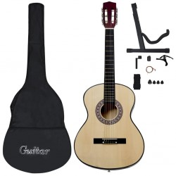 stradeXL 12 Piece Classical Acoustic Guitar Beginner Set 4/4 39
