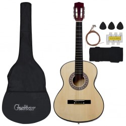 stradeXL 8 Piece Classical Acoustic Guitar Kids and Beginner Set 3/4 36