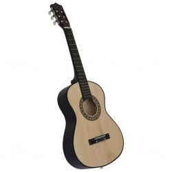 stradeXL Classical Acoustic Guitar for Beginner and Kid 1/2 34 Basswood