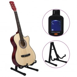 stradeXL 12 Piece Western Acoustic Cutaway Guitar Set with 6 Strings 38
