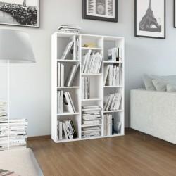 stradeXL Przegroda/regał na książki, biały, 100x24x140 cm, płyta wiórowa