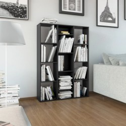stradeXL Przegroda/regał na książki, czarny, 100x24x140 cm