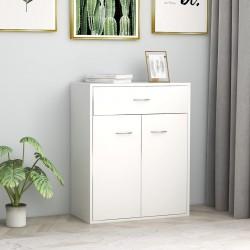 stradeXL Szafka, biała, 60 x 30 x 75 cm, płyta wiórowa