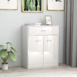 stradeXL Szafka na wysoki połysk, biała, 60 x 30 x 75 cm, płyta wiórowa
