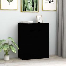 stradeXL Szafka, czarna, 60 x 30 x 75 cm, płyta wiórowa