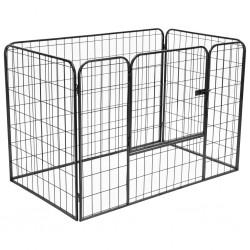 stradeXL Solidny kojec dla psa, czarny, 120x80x70 cm, stalowy
