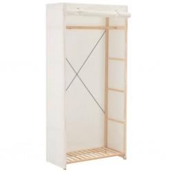 stradeXL Szafa, biała, 79 x 40 x 170 cm, materiałowa
