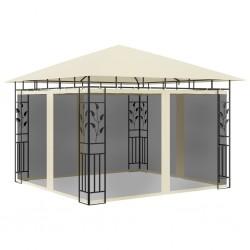 stradeXL Altana ogrodowa z moskitierą, 3x3x2,73 m, kremowa, 180 g/m²