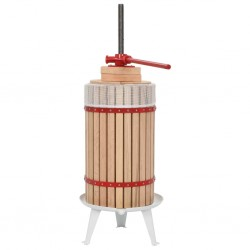 stradeXL Fruit and Wine Press with Cloth Bag 30 L Oak Wood