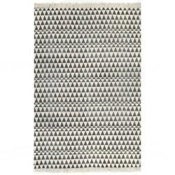 stradeXL Dywan typu kilim, bawełna, 120 x 180 cm, czarno-biały ze wzorem