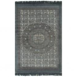 stradeXL Dywan typu kilim, bawełna, 160 x 230 cm, szary ze wzorem