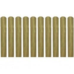 stradeXL 20 impregnowanych sztachet, drewno, 60 cm