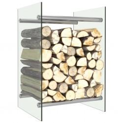 stradeXL Stojak na drewno opałowe, przezroczysty, 40x35x60 cm, szklany