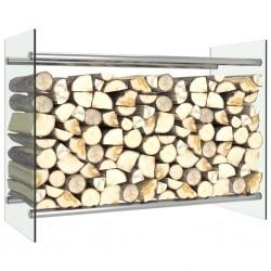 stradeXL Stojak na drewno opałowe, przezroczysty, 80x35x60 cm, szklany
