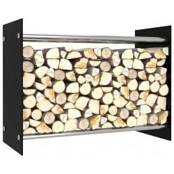 stradeXL Firewood Rack Black 80x35x60 cm Glass