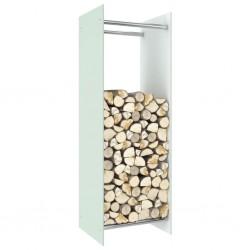 stradeXL Firewood Rack White 40x35x120 cm Glass