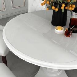 stradeXL Mata ochronna na stół, przezroczysta, Ø 110 cm, 2 mm, PVC