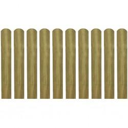 stradeXL Impregnowane sztachety, 10 szt., drewno, 60 cm