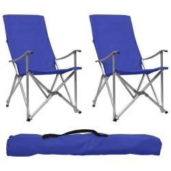 stradeXL Składane krzesła turystyczne, 2 szt., niebieskie