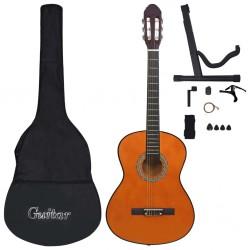 """stradeXL 12-częściowy zestaw do nauki gry na gitarze klasycznej 4/4, 39"""""""