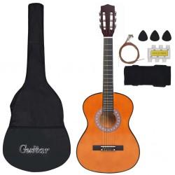 "stradeXL 8 Piece Classical Guitar Kids and Beginner Set 3/4 36"""