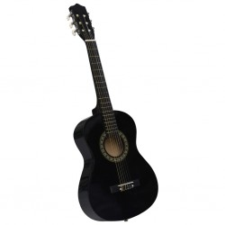 "stradeXL Classical Guitar for Beginner and Kids Black 1/2 34"""