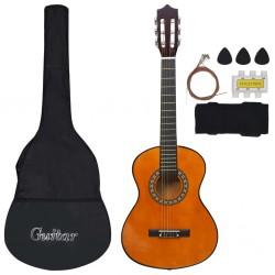 "stradeXL 8 Piece Classical Guitar Children Beginner Set 1/2 34"""