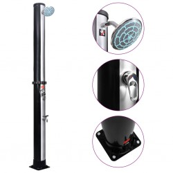 stradeXL Outdoor Solar Shower with Shower Head and Faucet 35 L