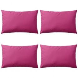 stradeXL Poduszki na zewnątrz, 4 sztuki, 60x40 cm, kolor różowy