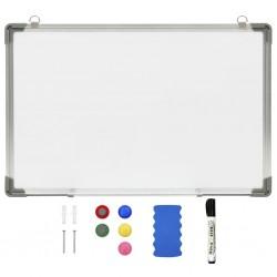 stradeXL Magnetyczna tablica suchościeralna, biała, 60x40 cm, stalowa