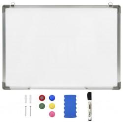 stradeXL Magnetyczna tablica suchościeralna, biała, 70x50 cm, stalowa